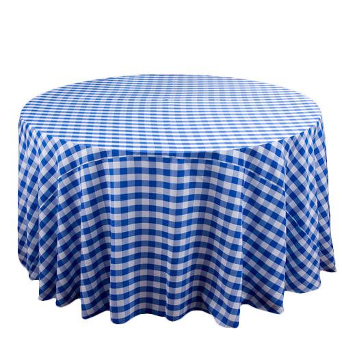 Blue U0026 White Linen Check Tablecloth Rental