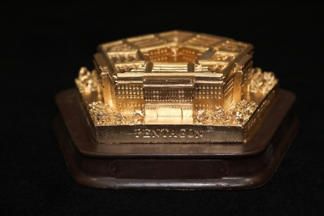 Dark Swiss Chocolate 3D Pentagon and Brushed with Edible 23k gold