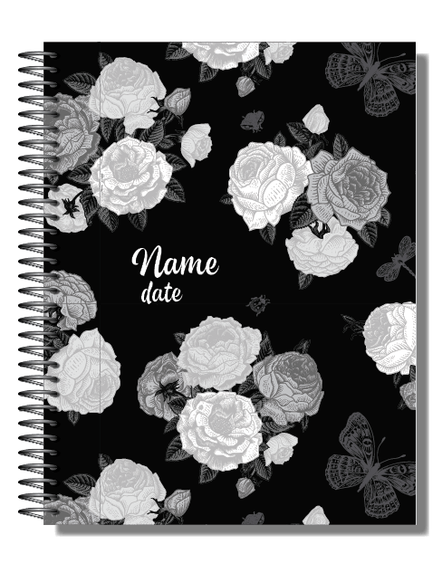 Personalised 2019 Bullet Planner A5 - Black is The New You 00101