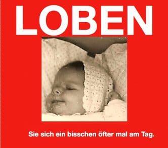 """alt=""""Hilfe bei Depression:Coaching München & Stuttgart: Dr. Berle. Loben Sie sich öfter! Foto-Grafik in Rot von Baby"""""""