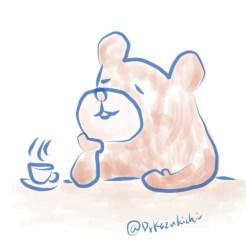 紅茶でほっこりくま