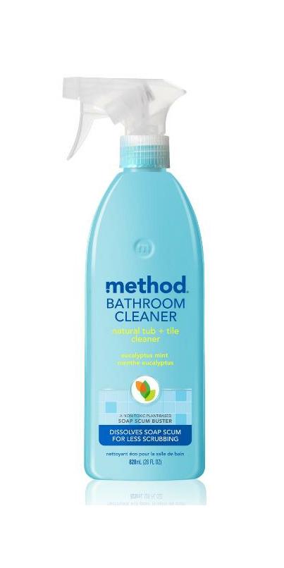method bathroom cleaner natural tub tile spray eucalyptus mint