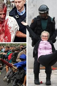 , Police Brutality against Peaceful CATALONIA protesters show that Europe hasn't changed at all