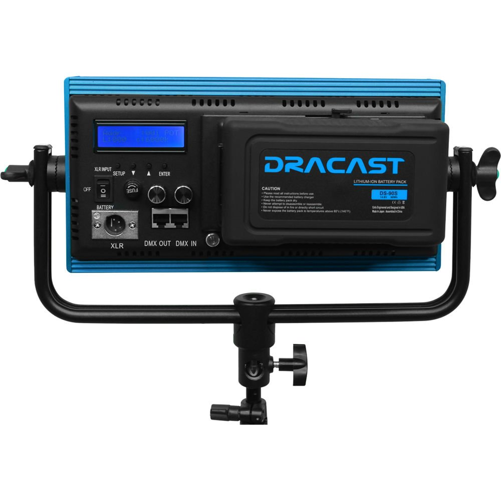 Dracast Plus Series Bicolor 3-Light Interview Kit with V-Mount and Gold Mount Battery Plates