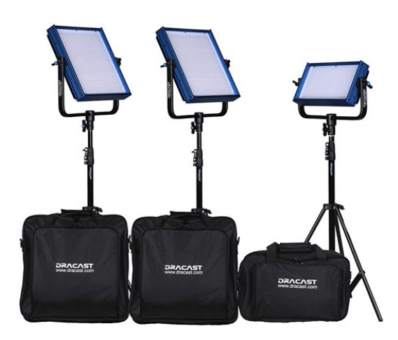 Dracast ENG Bi-Color 4-Light Kit with Sony V-Mount Battery Plates