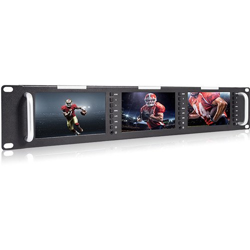 Avinair Spectre Triple Rack Monitor with HDMI, Video & Audio Inputs