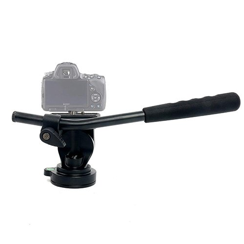 Kingjoy MP3008+KH6750 Four-Section, Telescoping Monopod with Twist-Lock, Fluid Drag Head and Folding Tri-Support Base