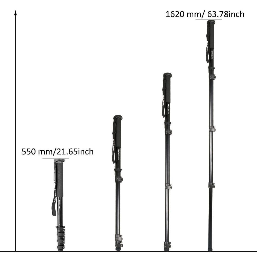 Kingjoy MP408F black Flip Lock Monopod