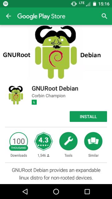 Aplicativo GNURoot Debian