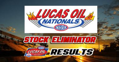 2018 NHRA Lucas Oil Nationals Stock Eliminator Results