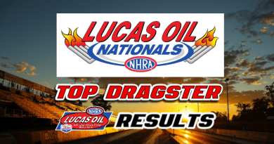 2018 NHRA Lucas Oil Nationals Top Dragster Results