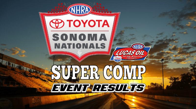 2018 NHRA Sonoma National Event Super Comp Results