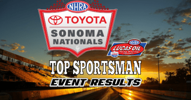 2018 NHRA Sonoma National Event Top Sportsman Results