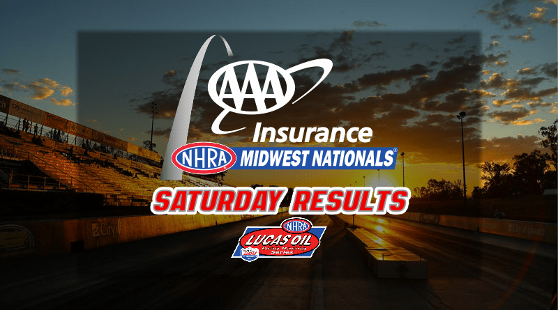 2018 AAA Insurance NHRA Midwest Nationals Saturday Sportsman Results