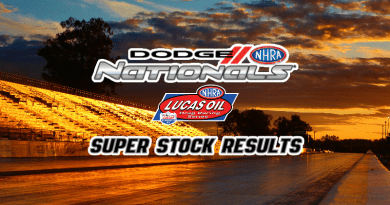 2018 NHRA Dodge Nationals Super Stock Results