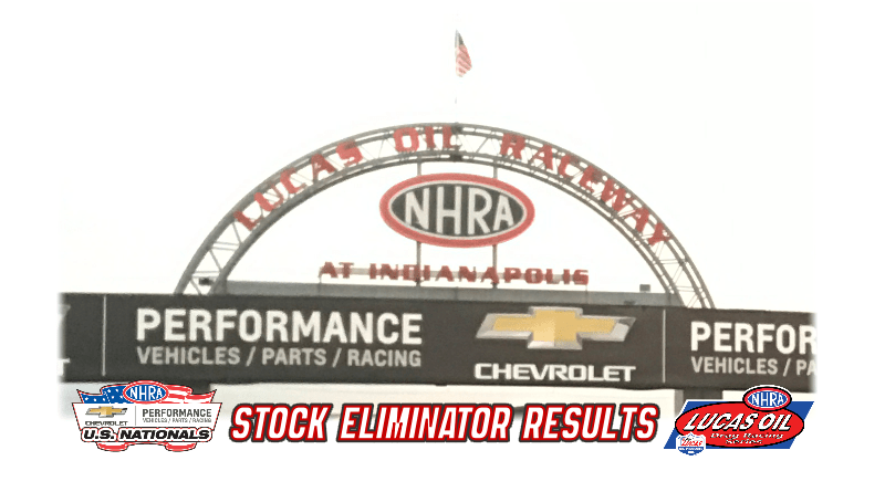 2018 NHRA US Nationals Stock Eliminator Results