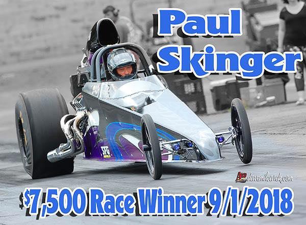 Paul Skinger 7500 Race Winner 9-1-18