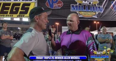 2018 the million dollar drag race Friday 25k winner allen wickell interview