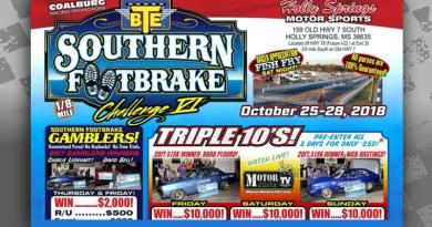 BTE Southern Footbrake Challenge Oct 25-28