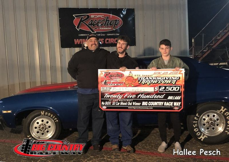 Bill Simpkins No Box Shootout Winner Friday Big Country Raceway 11.23.18