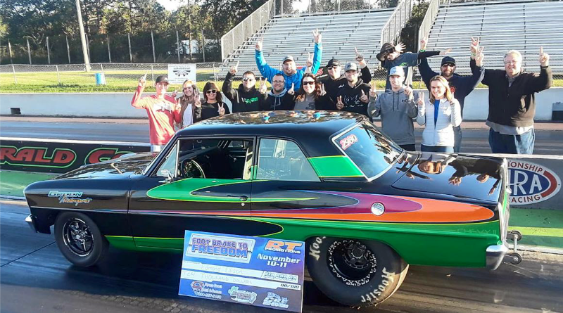 Edmond Ellison Footbrake to Freedom Winner Nov 11 Emerald Coast Dragway