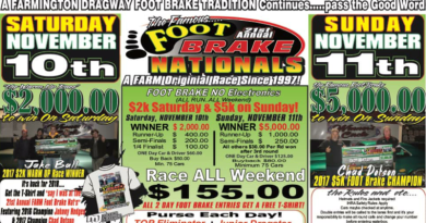 Farmington Dragway Foot Brake Nationals Nov 10-11