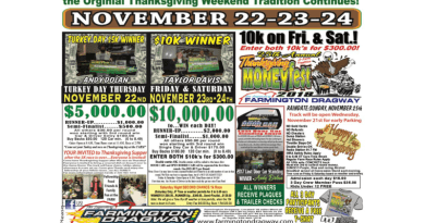 Farmington Dragway Thanksgiving MoneyFest Nov 22-24