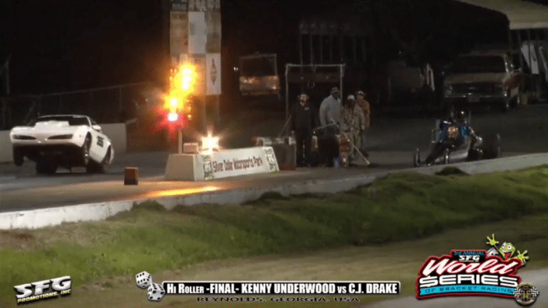 2018 SFG World Series of bracket racing Friday HiRoller Final Kenny Underwood vs CJ Drake