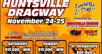 Huntsville Dragway Turkey 2-Day Nov 24-25 event flyer