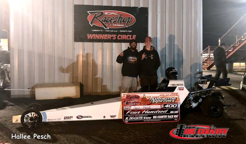 Jace Head Friday Jr Dragster Winner Big Country Raceway 11.23.18