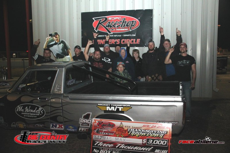 Mad Max McGlothin Saturday No Box Winner Big Country Raceway 11.24.18