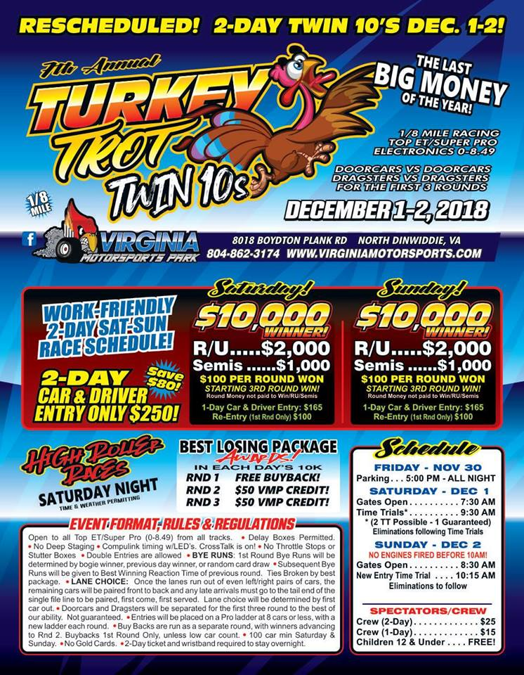 Virginia Motorsports Park Turkey Trot Dec 1-2