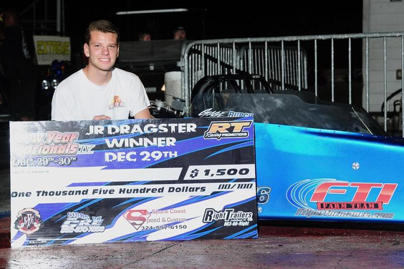 Gage Burch Saturday PBIR New Year Nationals Jr Dragster Winner 12-29-18