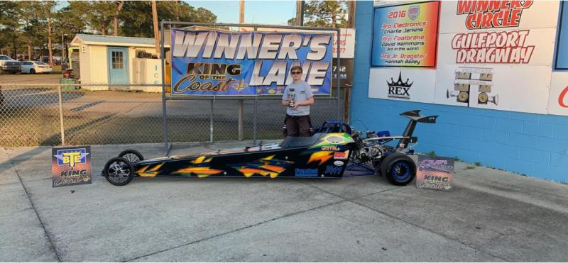 Griffin Hatcher King of the Coast 2018 jr dragster champion