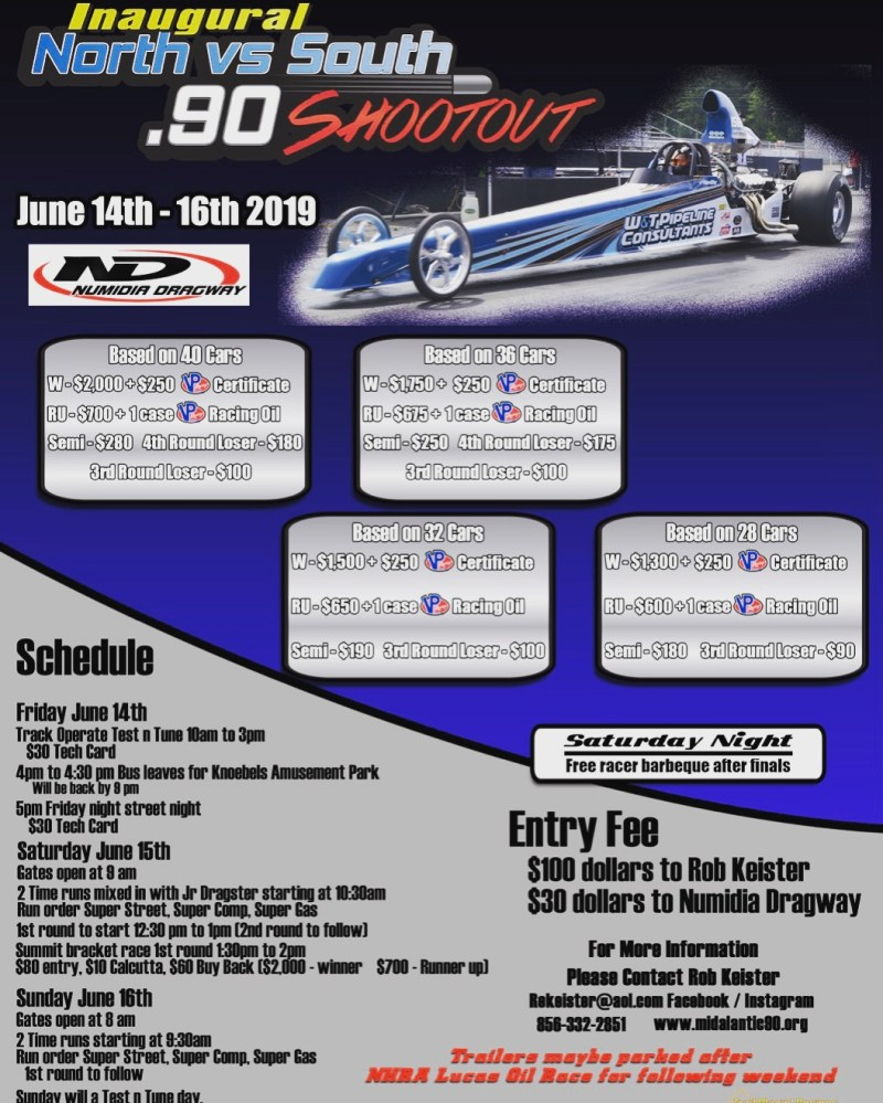 Mid Atlantic 90 Series 2019 North South Shootout Flyer