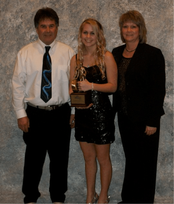 Brittany Boltz with parents