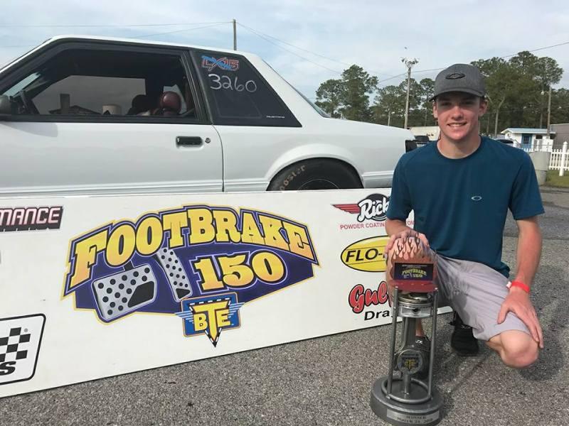 Caleb Ellison 2018 Footbrake 150 Winner