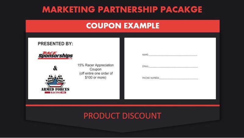 Race Sponsorship Coupon example