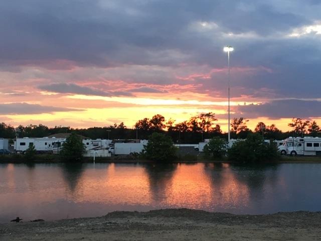 Sunset at Englishtown Raceway Park
