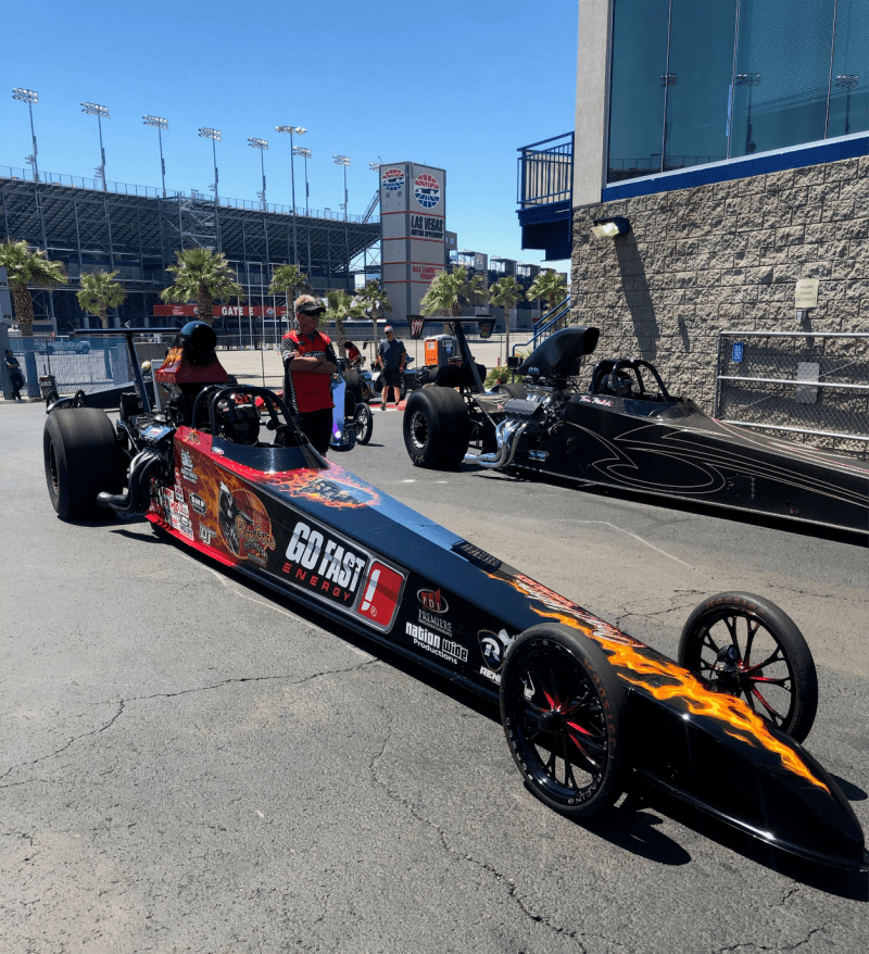 Kris Whitfield dragster
