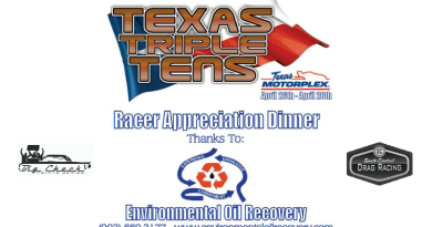 Texas Triple Tens Environmental Oil Recovery Racer Appreciation Dinner