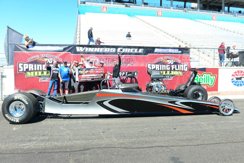 Jeff Burns dragster race winner spring fling las vegas