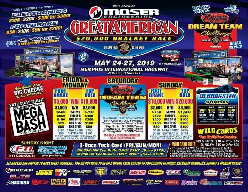 Great American Bracket Race Flyer