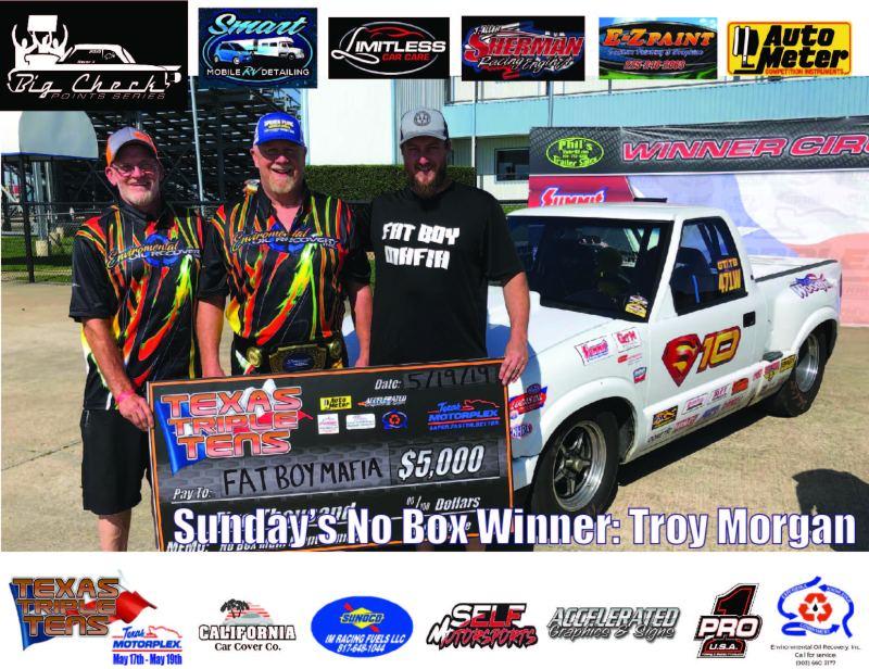 Troy Morgan Triple Texas Tens No Box Winner