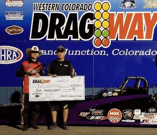 Western Colorado Dragway shootout winner Kris Whitfield