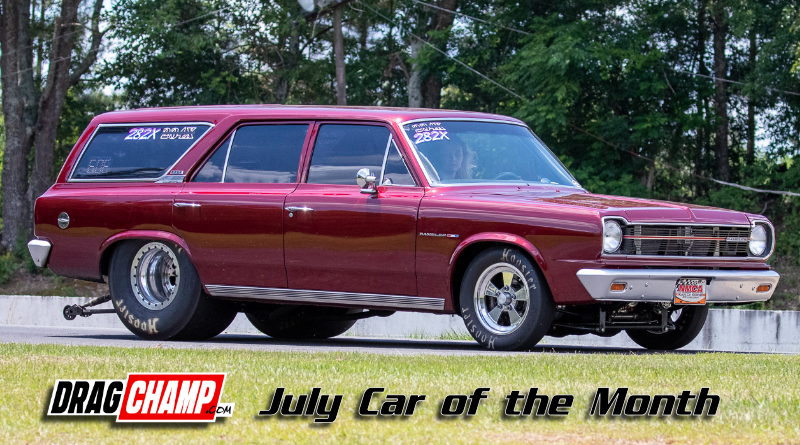 Caraline McCarty DragChamp July Car of the Month