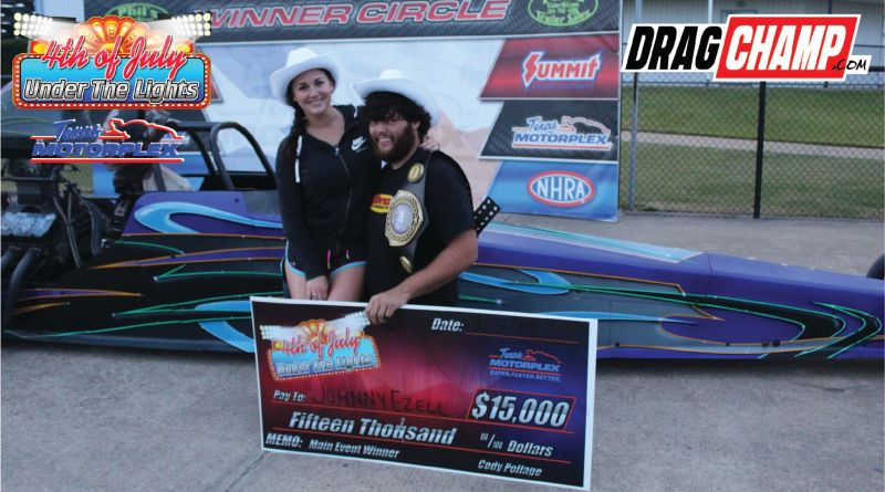 johnny bracket racer ezell wins friday 15k at 4th of july race texas motorplex