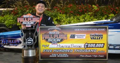 Hunter Patton wins Fall Fling 500K