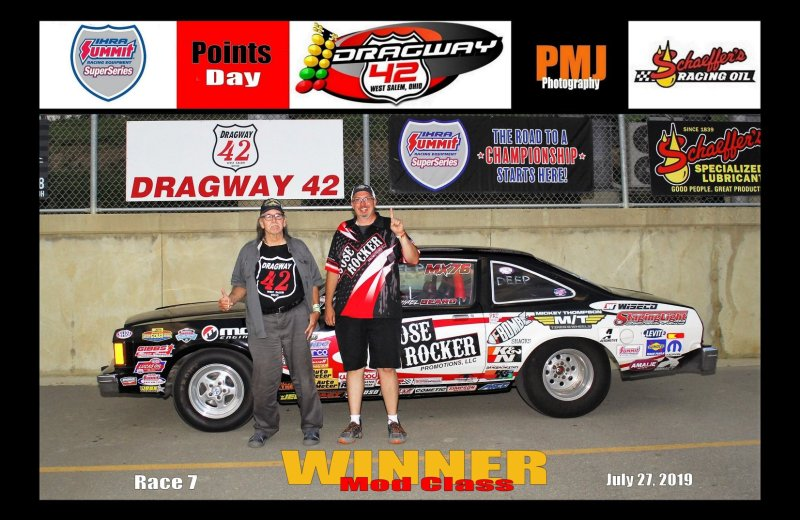 Michael Beard Dragway 42 Winner