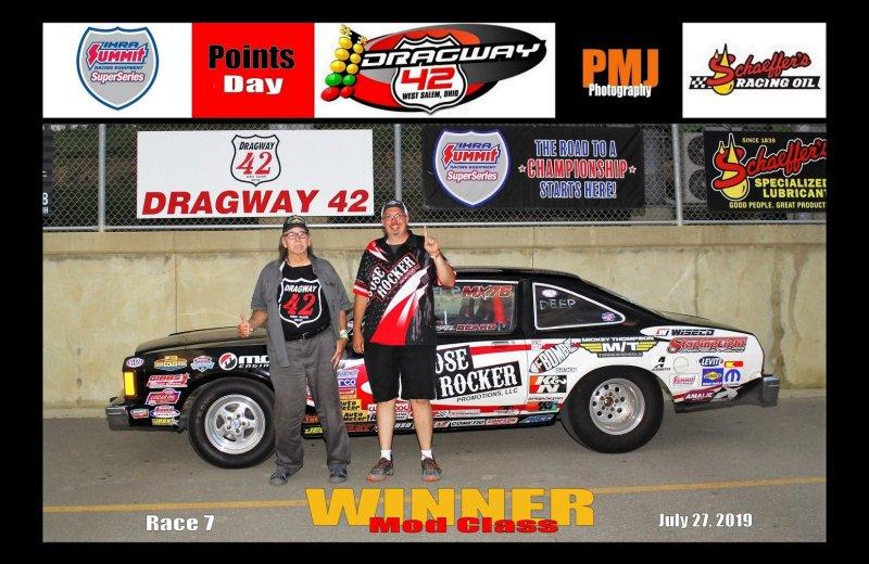 Michael Beard Dragway 42 Winner